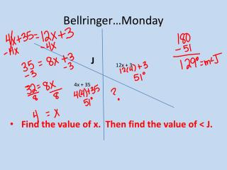 Bellringer …Monday
