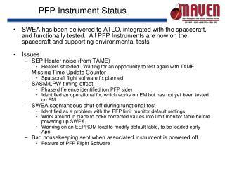 PFP Instrument Status