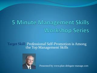 5 Minute Management Skills Workshop Series