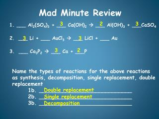 Mad Minute Review
