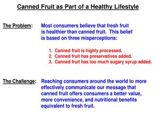 Canned Fruit as Part of a Healthy Lifestyle