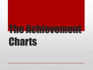 The Achievement Charts