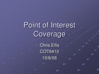 Point of Interest Coverage