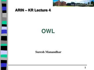 ARIN – KR Lecture 4