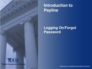 Introduction to Payline    Logging On
