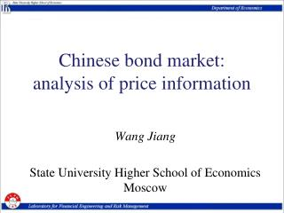 Chinese bond market:  analysis of price information