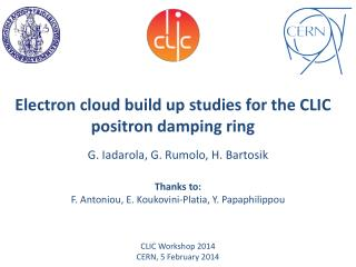 Electron cloud build up studies for the CLIC positron damping  ring