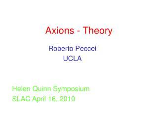 Axions - Theory