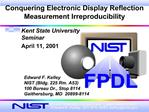 Conquering Electronic Display Reflection Measurement Irreproducibility