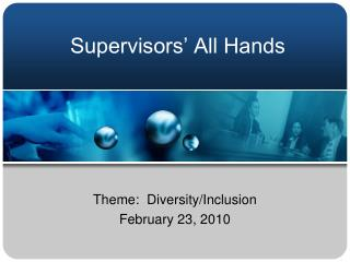 Supervisors' All Hands
