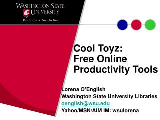 Cool Toyz:  Free Online Productivity Tools