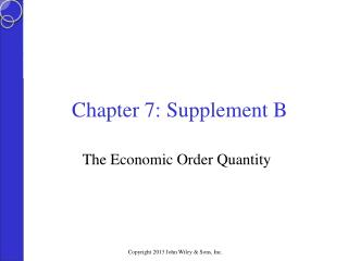 Chapter 7: Supplement B