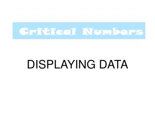 DISPLAYING DATA