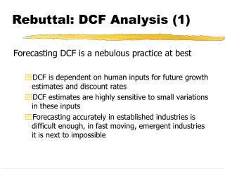 Rebuttal: DCF Analysis (1)