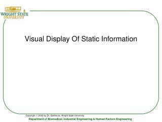 Visual Display Of Static Information
