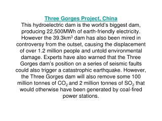 3 Gorges Dam