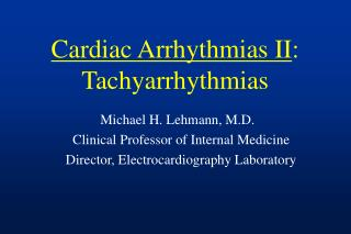 Tachycardia Lecture
