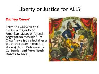 Liberty or Justice for ALL?