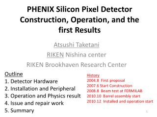 PHENIX  Silicon Pixel Detector  Construction, Operation, and the first Results