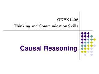 Causal Reasoning