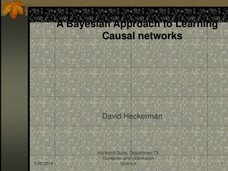 A Bayesian Approach to Learning  Causal networks