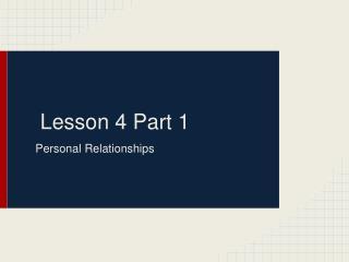 Lesson 4 Part 1
