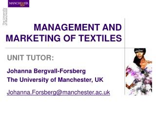 MANAGEMENT AND MARKETING OF TEXTILES