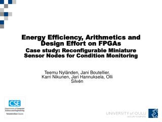 Energy Efficiency, Arithmetics and Design Effort on FPGAs