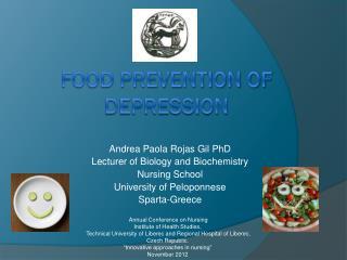 Food prevention of depression