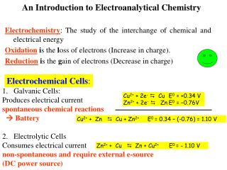 An Introduction to Electroanalytical Chemistry