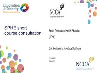 SPHE  short course consultation