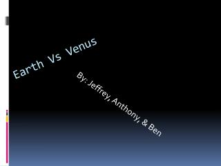 Earth Vs Venus