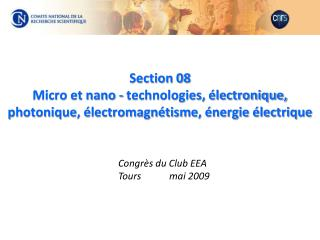 Congrès du Club EEA Tours         mai 2009