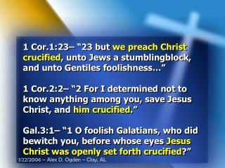 1 Cor.1:23