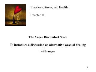 The Anger Discomfort Scale To introduce a discussion on alternative ways of dealing with anger