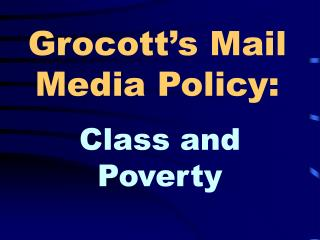 Grocott's Mail Media Policy: