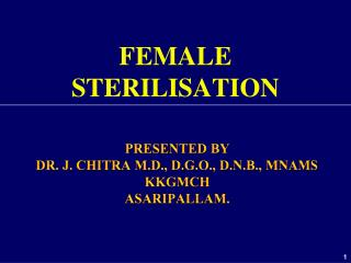 FEMALE STERILISATION