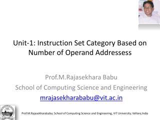 Unit-1: Instruction Set Category Based on Number of Operand Addressess