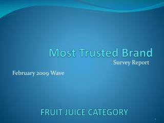 FRUIT JUICE CATEGORY