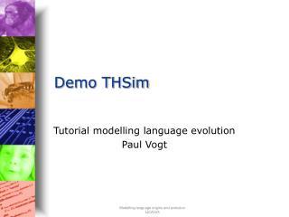 Demo THSim
