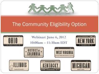 The Community Eligibility Option