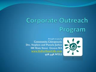 Corporate Outreach Program