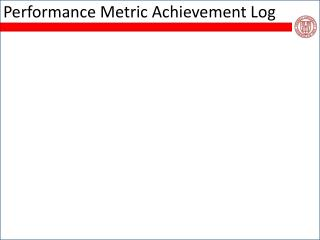 Performance Metric Achievement Log