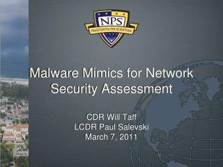 Malware Mimics for Network Security Assessment