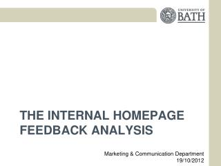 THE Internal Homepage feedback Analysis