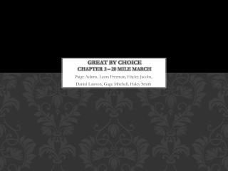 Great by choice chapter 3 – 20 mile march