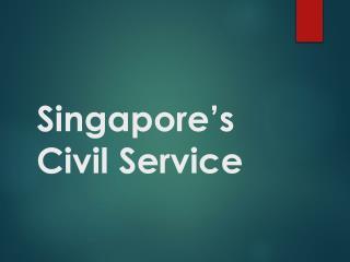 Singapore's Civil Service