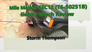 ppt 38421 Mile Marker SEC12 76 50251B Electric Winch Review