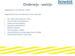 Onderwijs - welzijn