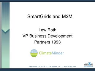 SmartGrids and M2M
